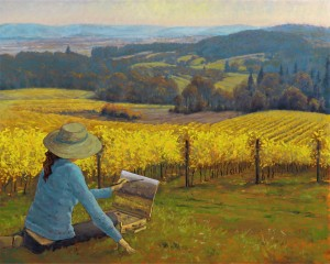 Artist Adventure- Painting the Vineyards 1