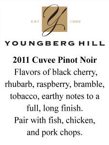 shelf talker 2011 YH Cuvee Pinot Noir