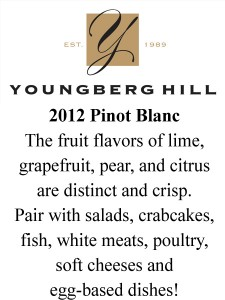 Shelf Talker- 2012 Pinot Blanc