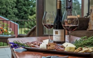 wine and cheese at youngberg hill