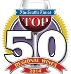 """Seattle Times 2014 Top 50 Wines – includes the 2012 Cuvee Pinot Noir; which is described by Seattle Times wine columnist Andy Perdue as follows: """"This is classic McMinnville pinot noir, with dark, brooding fruit and firm underpinnings"""". 1"""
