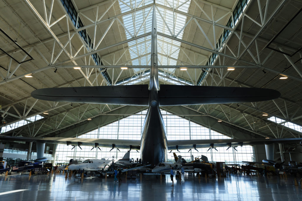 The Spruce Goose is the most famous exhibit at Evergreen Air Museum in McMinnville.